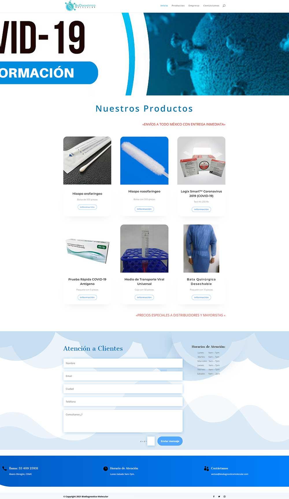 website ux catalogo