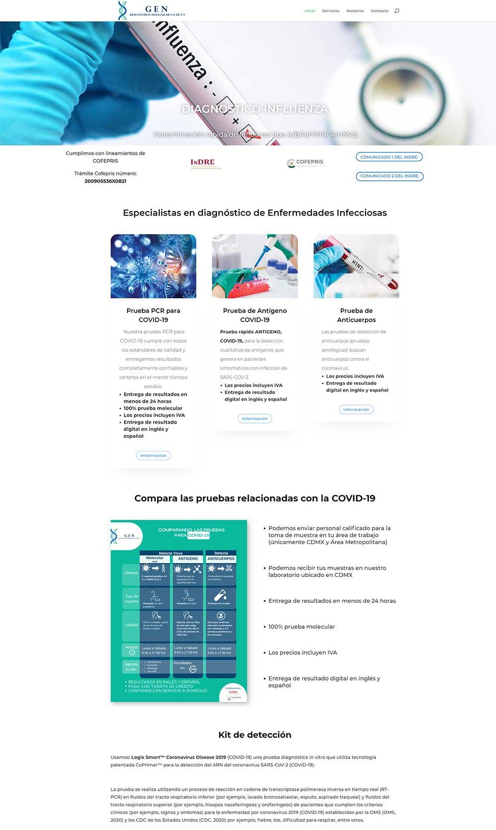 uxweb diseño web biodiagnostico